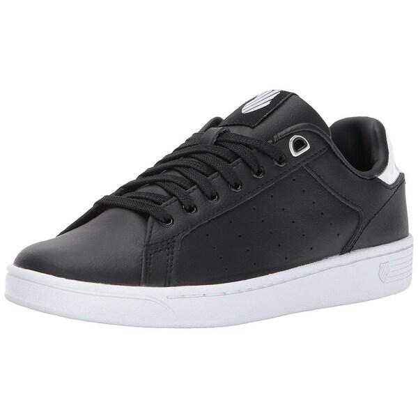 K-Swiss Women's Clean Court CMF Sneaker, Black/White Hologram, Size 9.5