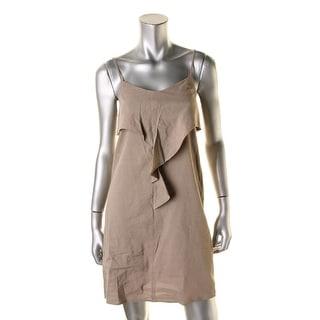 Theory Womens Hekana Casual Dress Linen Adjustable Straps - 00