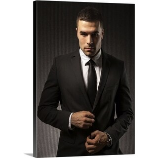 Premium Thick-Wrap Canvas entitled Fashionable Man (4 options available)