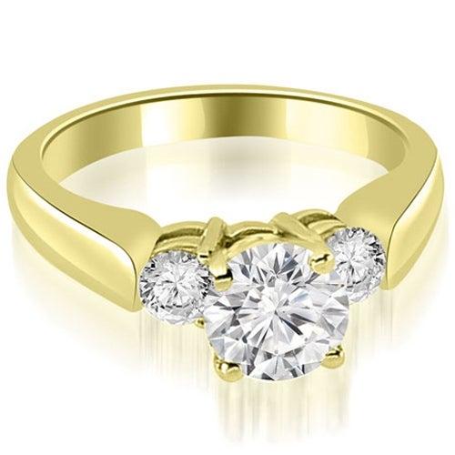1.40 cttw. 14K Yellow Gold Round Cut Diamond Engagement Ring