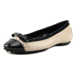 Tod's Ballerina Gomma V Dorsay Pr. Stampa Women Patent Leather Nude Flats