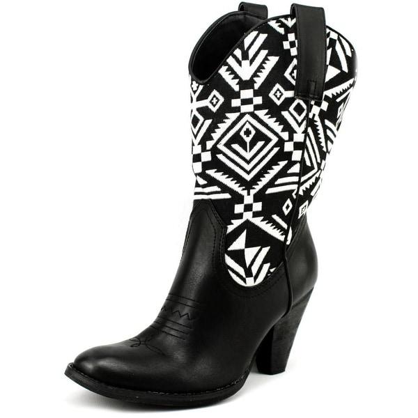 Spite Silverwood Women  Round Toe Synthetic Black Western Boot