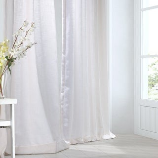 Link to Heavy Faux Linen Single Curtain Panel Similar Items in Window Treatments
