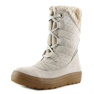 Baretraps Lara Women Round Toe Suede Tan Winter Boot