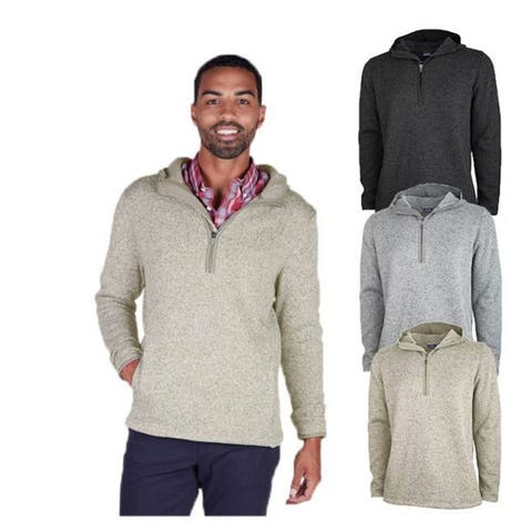 Charles River Apparel Men's Heathered Fleece Hoodie