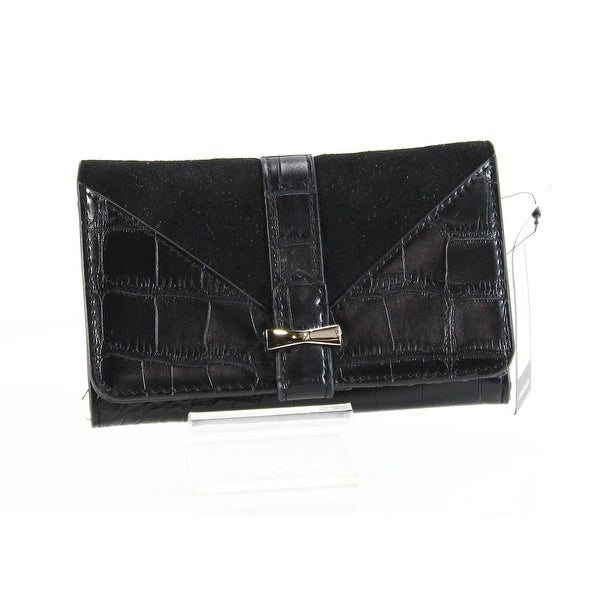 Nine West NEW Black Table Treasures Deluxe Wallet Bifold Leather