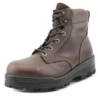 Wolverine Waterproof Work Men  Round Toe Leather  Work Boot