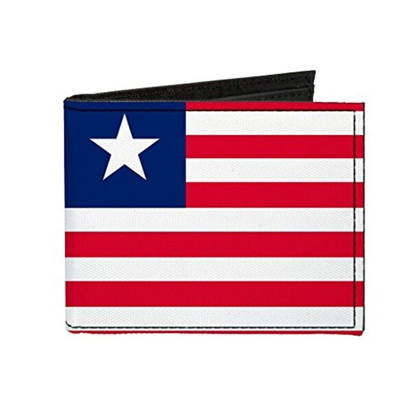 Buckle-Down Canvas Bi-fold Wallet - Liberia Flag Accessory