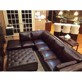 Lazzaro Leather Angelina Rustic Savauge 2 Piece Sectional Sofa