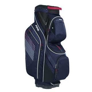 New Ping 2017 Traverse Golf Cart Bag (Navy / Red / White) - navy / red / white