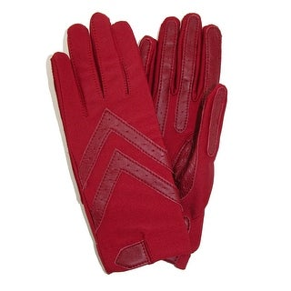 Isotoner Women's Unlined Leather Palm Driving Gloves (Pack of 2)