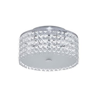 Bazz Lighting PL3413CC Glam Series Three-Light Flush Mount Ceiling Fixture, Finished in Chrome with Glass Beads