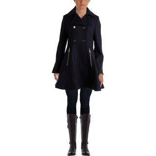 Laundry by Shelli Segal Womens Wool Double Breasted Pea Coat