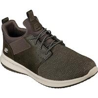 Skechers Men's Delson Camben Slip-On Sneaker Olive