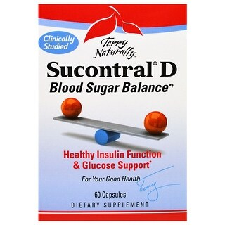 Terry Naturally Sucontral D - 60 Capsules - Blood Sugar Balance - Healthy Insulin Function & Glucose Support