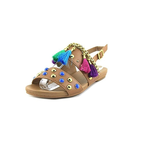 Design Lab Womens Ariel Strap Sandals Embellished Tassel