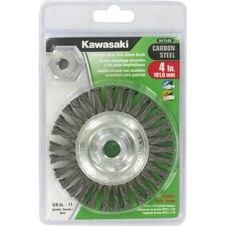 "Kawasaki® 4""  x  5/8-11 Knotted Stringer Bead Wire Wheel Brush - 841540"