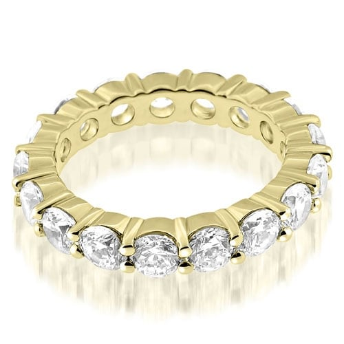 3.40 cttw. 14K Yellow Gold Round Cut Diamond Eternity Ring