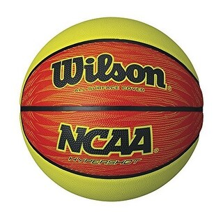 Wilson Unisex Ncaa Hypershot Official Size Basketball, Lime/Orange - 29.5