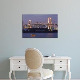 Easy Art Prints Rob Tilley's 'Rainbow Bridge At Dusk' Premium Canvas Art