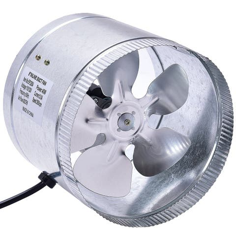 Costway 8''inch Inline Duct Booster Fan Blower Exhaust Ducting Cooling Vent Fan