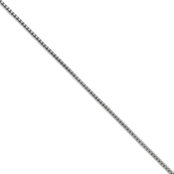 Chisel Stainless Steel 2.50mm Polished Fancy Box Chain (2.5 mm) - 22 in