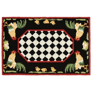 """Link to Liora Manne Frontporch Rooster Indoor/Outdoor Rug Black 24""""X60"""" Similar Items in Rugs"""