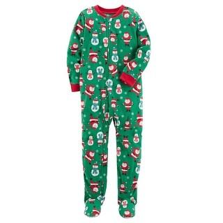 Carter's Baby Boys' 1 Piece Christmas Fleece Pajamas, 12 Months