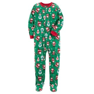 Carter's Little Boys' 1 Piece Christmas Fleece Pajamas, 3-Toddler