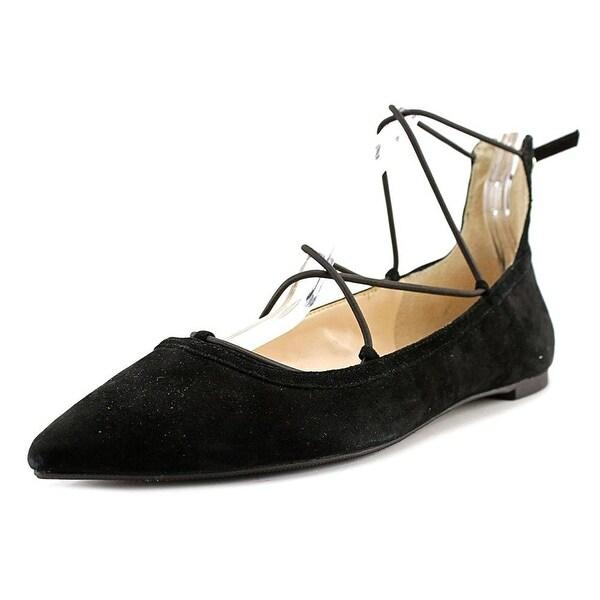 INC International Concepts Zachh Women Round Toe Synthetic Black Flats - 9