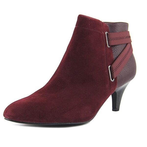 Alfani Vandela2 Women Pointed Toe Leather Burgundy Ankle Boot
