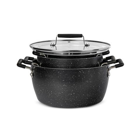 Granitestone Nesting Nonstick 6 Piece Multipurpose Stockpot Set