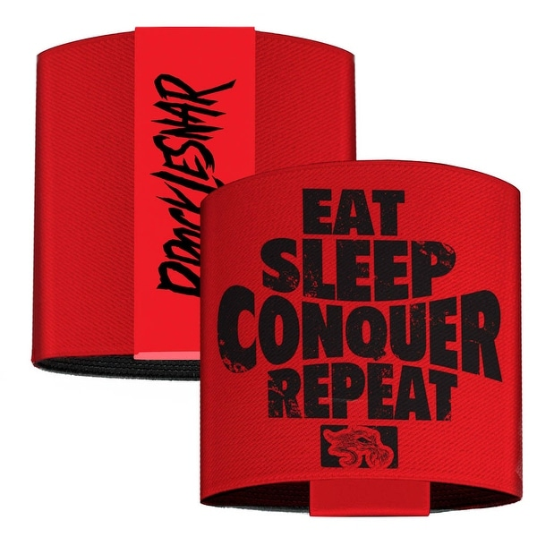 Brock Lesnar Eat Sleep Conquer Repeat Weathered Red Black Elastic Wrist Cuff