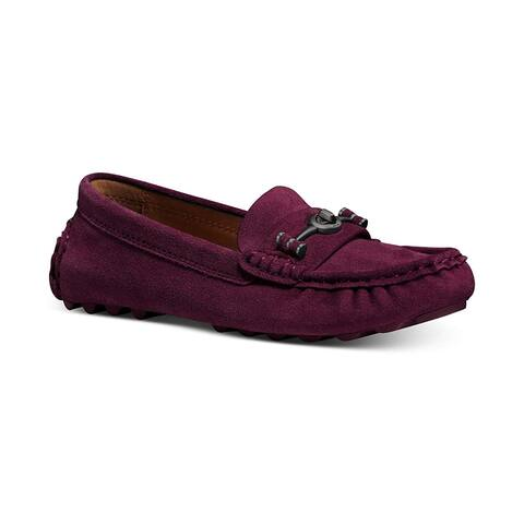 Coach Crosby Driver Women's Loafers Wine - 10