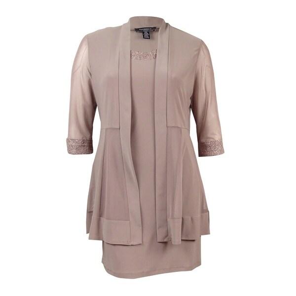 Shop Rm Richards Womens Plus Size Metallic Trim Shift Dress And
