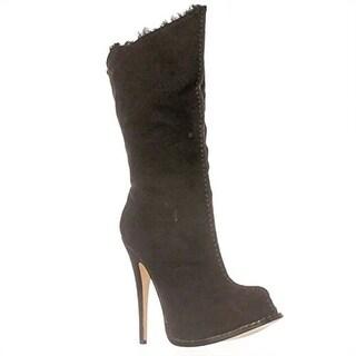 Paper Fox Caderyl Mid-Calf Boots - Black