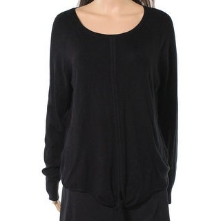 Only Mine Womens Tie Front Hem Pullover Sweater
