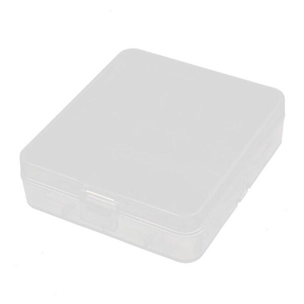 80mmx72mmx22mm Transparent Storage Case Hard Plastic Battery Holder Organizer