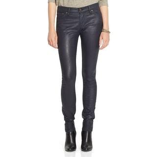 LRL Lauren Ralph Lauren Coated Skinny High Rise Jeans Pants