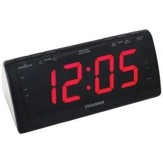 Sylvania Scr1206B Jumbo-Digit Dual Alarm Clock Radio