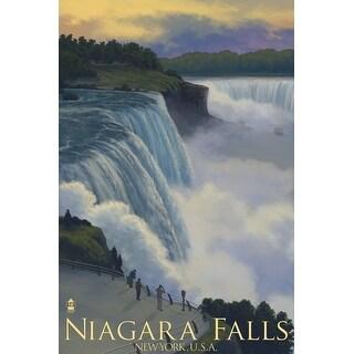 Niagara Falls, NY - LP Artwork (Art Print - Multiple Sizes Available)