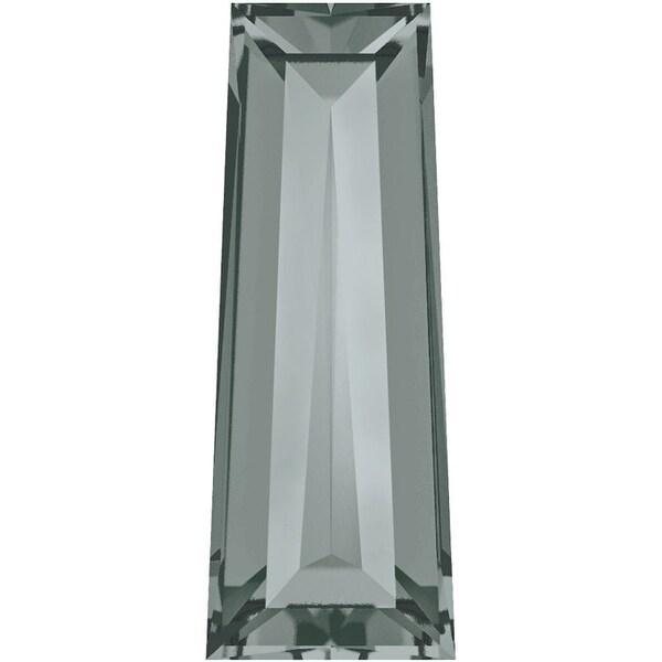 Swarovski Elements Crystal, 4503 Tapered Baguette Fancy Stones 4x2mm, 4 Pcs, Black Diamond F