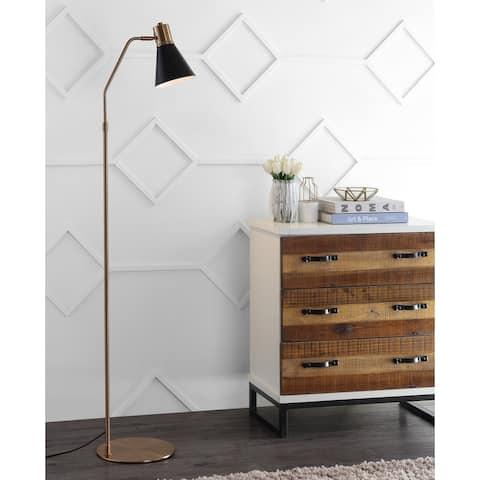 "SAFAVIEH Lighting 60-inch Grania Gold/ Black LED Floor Lamp - 15"" x 9.875"" x 60"""