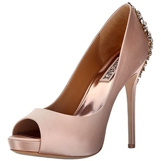 BADGLEY MISCHKA Womens Kiara Peep Toe Classic Pumps