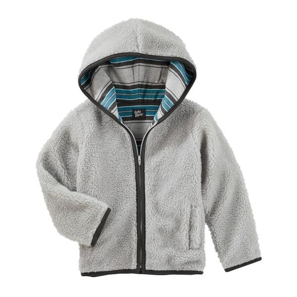 91af470e8986 Shop OshKosh B gosh Baby Boys  Hooded Sherpa Jacket