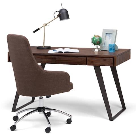 WYNDENHALL Mitchell SOLID ACACIA WOOD Modern Industrial 54 inch Wide Desk