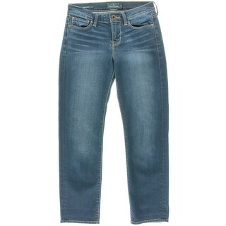 Lucky Brand Womens Juniors Mollie Crop Mid Rise Stretch Cropped Jeans