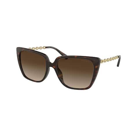 Coach HC8256U 512013 55 Dark Tortoise Woman Square Sunglasses