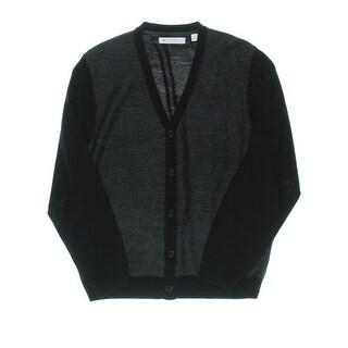 Ryan Seacrest Mens Colorblock V-Neck Cardigan Sweater