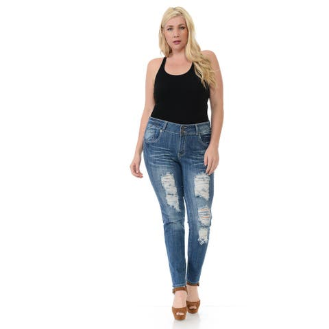 Sweet Look Premium Edition Women's Jeans - Plus Size -High Waist-N426H